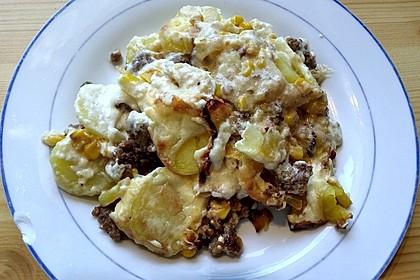 Kartoffelauflauf mit Mais und Paprika 27