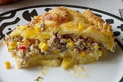 Kartoffelauflauf mit Mais und Paprika 1