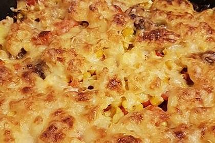 Kartoffelauflauf mit Mais und Paprika 16
