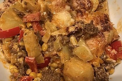 Kartoffelauflauf mit Mais und Paprika 4