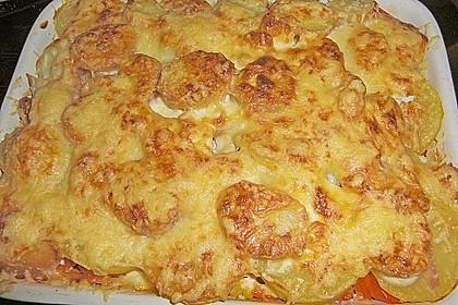 Kartoffelauflauf mit Mais und Paprika 14