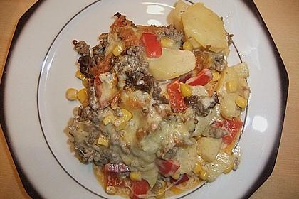Kartoffelauflauf mit Mais und Paprika 29