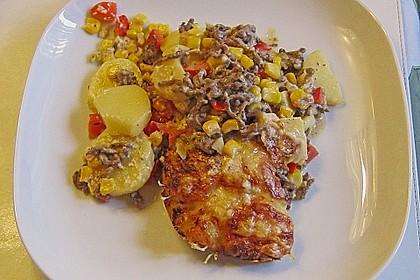 Kartoffelauflauf mit Mais und Paprika 7