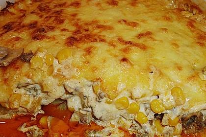 Kartoffelauflauf mit Mais und Paprika 11