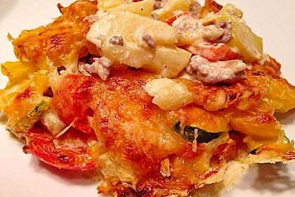 Kartoffelauflauf mit Mais und Paprika 5