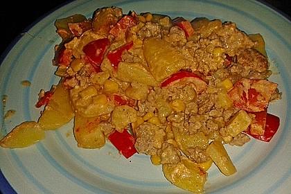 Kartoffelauflauf mit Mais und Paprika 20