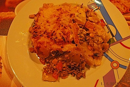 Kartoffelauflauf mit Mais und Paprika 25