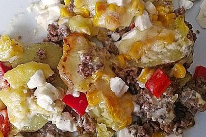 Kartoffelauflauf mit Mais und Paprika 12