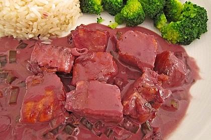 Lachs mit Rotweinpfeffersoße 3