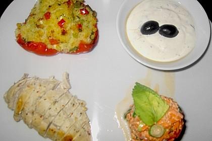 Gefüllte Paprika mit Bulgur und Feta 8