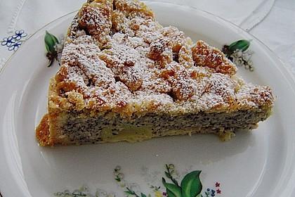Mohn - Streusel  mit Pudding und Mandarinen 2