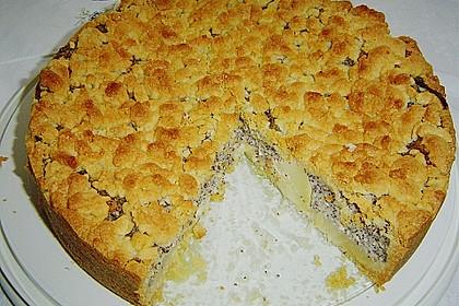 Mohn - Streusel  mit Pudding und Mandarinen 5