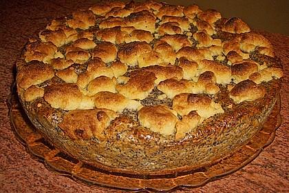 Mohn - Streusel  mit Pudding und Mandarinen 7