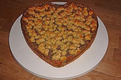Mohn - Streusel  mit Pudding und Mandarinen 8