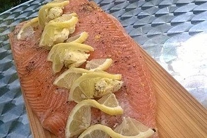 Plank-grilled Lachs 3