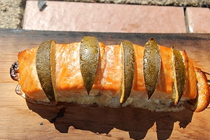 Plank-grilled Lachs 13
