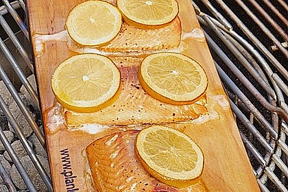 Plank-grilled Lachs 11