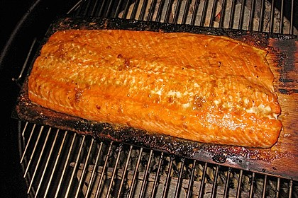 Plank-grilled Lachs 10