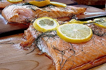 Plank-grilled Lachs 1
