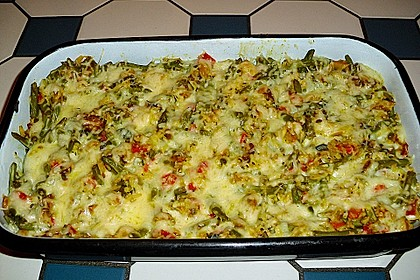 Reisgratin mit grünen Bohnen 2