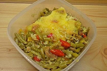 Reisgratin mit grünen Bohnen 7