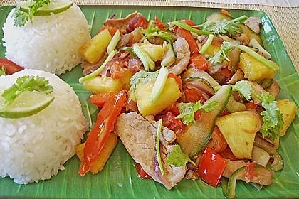 Süß - saures Schweinefleisch 'Thai Style' 1