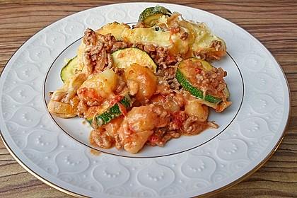 Zucchini-Gnocchi-Auflauf