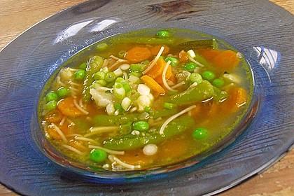 Einfache Gemüse - Nudel - Suppe 4