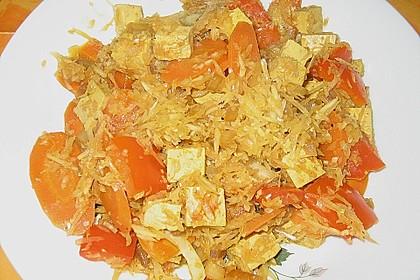 Illes schlankes Schichtkraut  mit  geräuchertem Tofu aus dem Wok 5