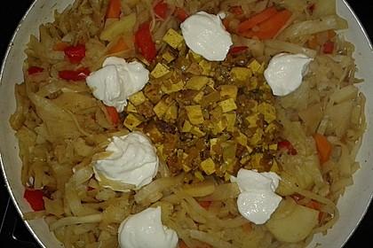 Illes schlankes Schichtkraut  mit  geräuchertem Tofu aus dem Wok 1