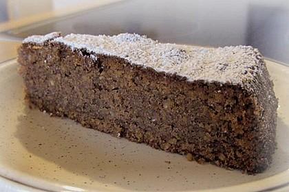 Mandel - Schoko - Kuchen mit Rum 3
