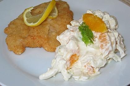 Fenchel - Salat mit Orangenfilets und Schlagsahne