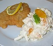 Fenchel - Salat mit Orangenfilets und Schlagsahne (Bild)