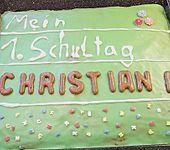 Tafel - Kuchen zur Einschulung / zum Schulanfang (Bild)