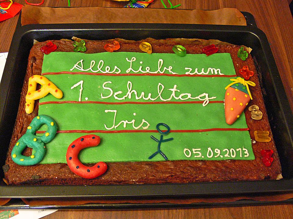 Tafel Kuchen Zur Einschulung Zum Schulanfang Von Cosma2202