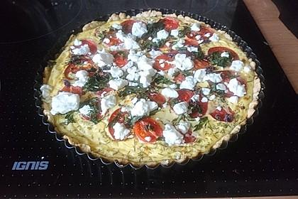 Tomaten - Tarte mit Ziegenkäse (Bild)