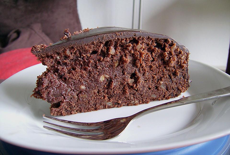 Schokoladen Marzipan Kuchen Von Pinktroublebee Chefkoch De