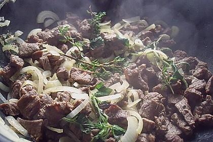 Zwiebelfleisch vom Ochsen