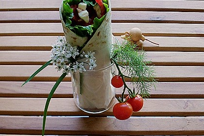 Tomaten - Mozzarella - Wraps