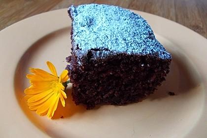 Kakao - Buttermilch - Blechkuchen mit Früchten