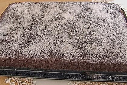 Kakao - Buttermilch - Blechkuchen mit Früchten 5