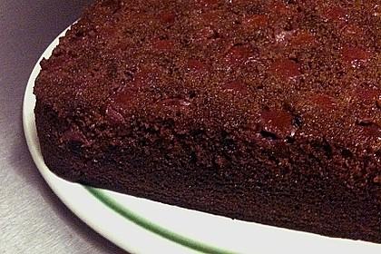 Kakao - Buttermilch - Blechkuchen mit Früchten 14