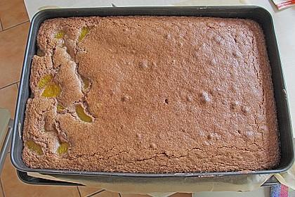 Kakao - Buttermilch - Blechkuchen mit Früchten 12