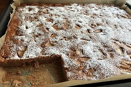 Kakao - Buttermilch - Blechkuchen mit Früchten 7