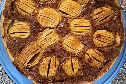 Apfelkuchen mit Eier - Nuss - Guss (Bild)