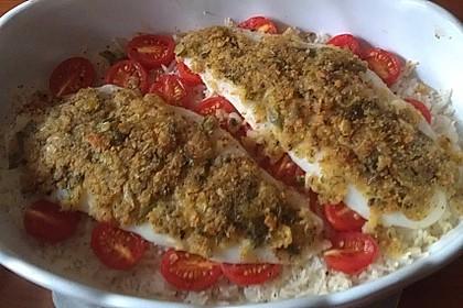 Fisch im Tomatenbett (Bild)