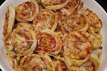 Blätterteig Pizza - Schnecken 23