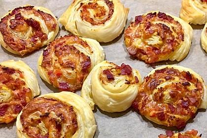 Blätterteig Pizza - Schnecken 8