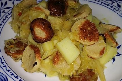 Bratwurst-Sauerkraut-Pfanne 14
