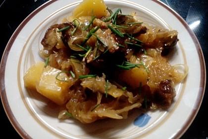 Bratwurst-Sauerkraut-Pfanne 18